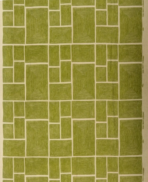 Angelo Testa, Campagna, linen plain weave, screen printed, 1947
