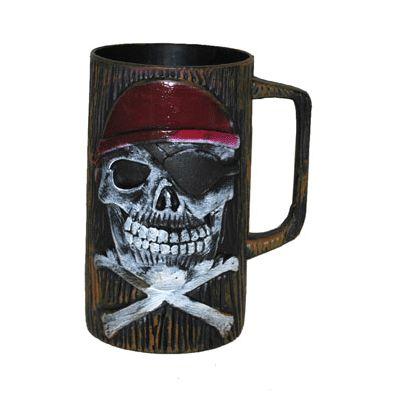 Grote drinkbeker piraat/piraten van plastic.