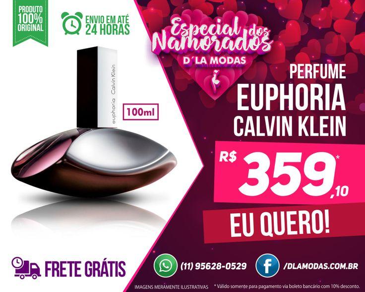 💌EUPHORIA CALVIN KLEIN EDP FEMININO 100ML🎁🛍️  Perfume feminino sensual, luxuoso e sofisticado. Calvin Klein Euphoria remete-nos à uma viagem sem limites em busca da liberdade de um sonho, que representa o modernismo estético: beleza e luxo associados a sensualidade.  #DIADOSNAMORADOS #DLAMODAS #PERFUMESIMPORTADOS  CONFIRA AQUI: 👉  https://www.dlamodas.com.br/perfumes/calvin-klein-euphoria