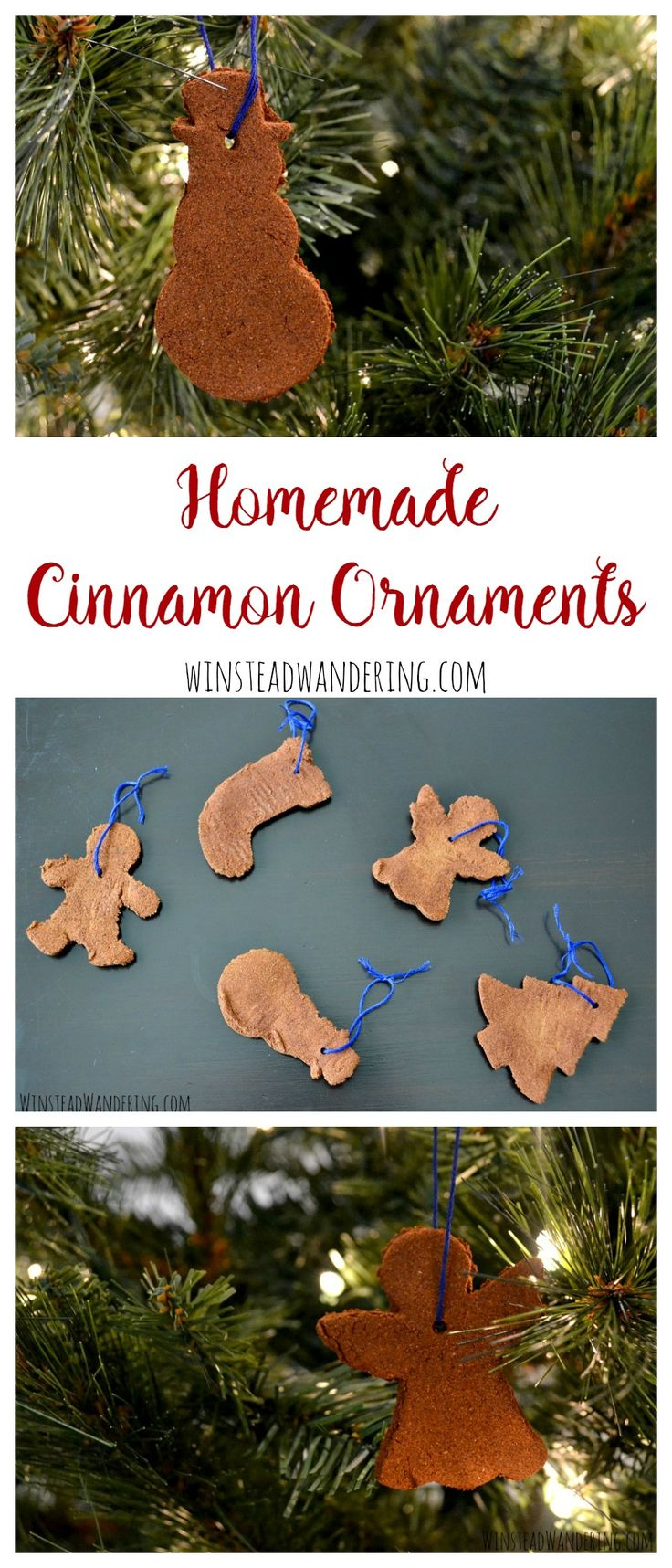 With just two ingredients, you can make easy homemade cinnamon ornaments: a perfect DIY for decorating or gifting. What a fun craft for kids!
