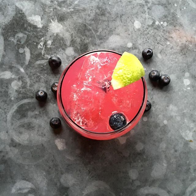 Our Blueberry, Lime and Lavender Cocktail goes perfectly with a dose of sunshine!