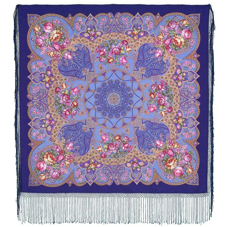 """Shawl of compacted woolen fabric with silk fringe """"Princely"""", 148 * 148 cm      Artist: Elena Nemeshaeva"""