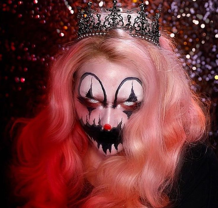 On Instagram- nikkietutorials: Another clown sighting?  FEAR NOT! It's just me and my NEW Halloween makeup tutorial ➡️ link in bio! Tag someone who's afraid of clowns... muahahaha!  __ #nikkietutorials