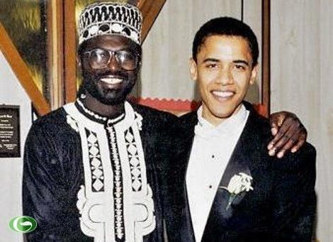 Barack Obama, right, and his late father.