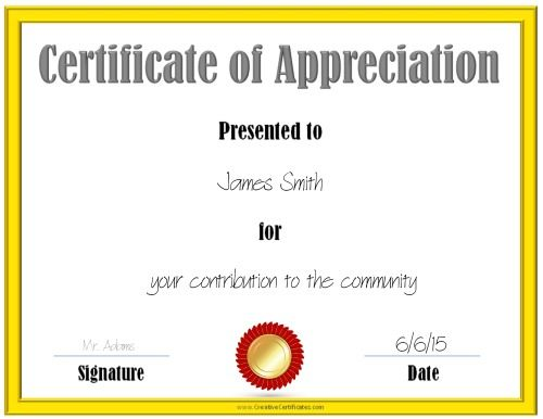 7 best LESC Social\/\/Service images on Pinterest Certificate - army certificate of appreciation template