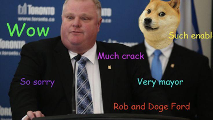 Rob Ford. Such mayor. Much Crack. Wow.