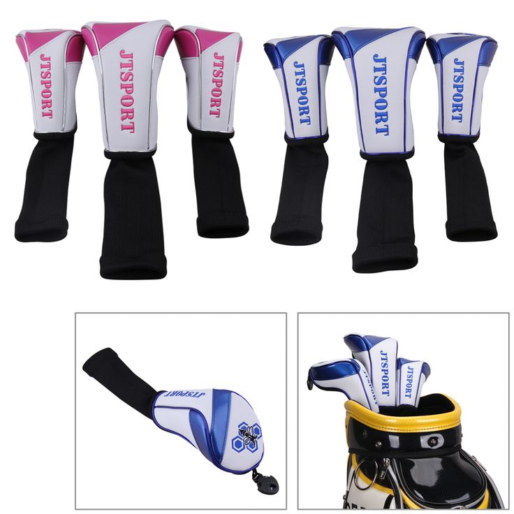 3pcs/set PU Leather Golf Club Head Covers for Titleist Callaway  For details:  Email: bettygolflover@yahoo.com Skype: betty.den