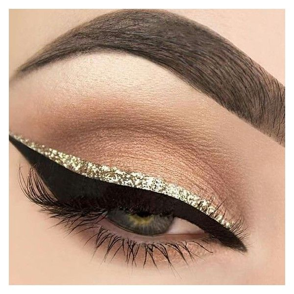 Glitter Eye Makeup ❤ liked on Polyvore featuring beauty products, makeup and eye makeup