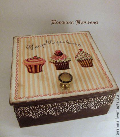 Кухня ручной работы. Ярмарка Мастеров - ручная работа Коробка для чая Пироженые. Handmade.