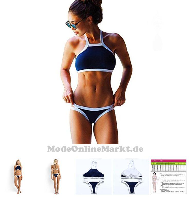 0703510032560 | #Damen #Push #Up #Bikini #Sets #Swimwear #Swimsuit #Schwarz #Weiß #Blau #Bademode #Neckholder #Bathing #Suit