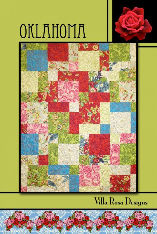 Oklahoma Quilt Pattern By Pat Fryer Villa Rosa Designs