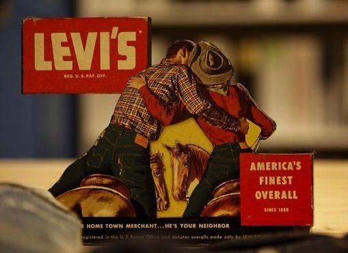 Levi's Store Paper Display, 1950's