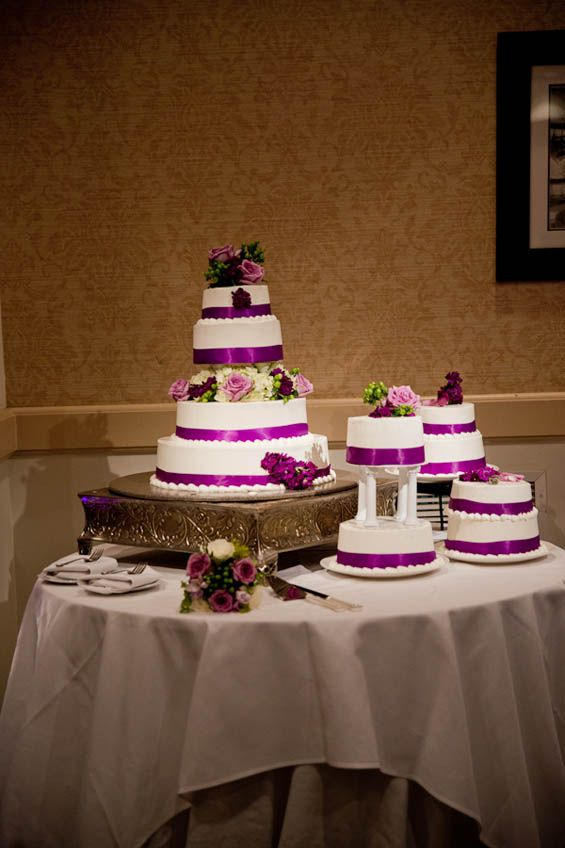 purple and grey wedding cakes purple and grey purple is the wedding color at seaview 18860