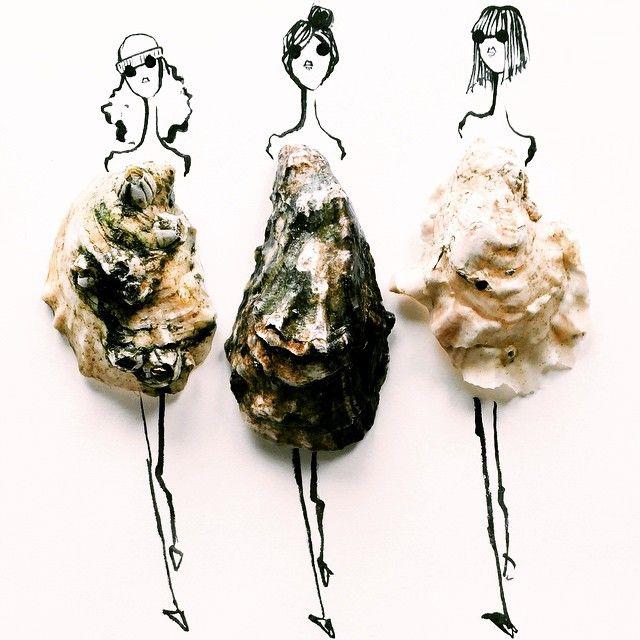Una fashion illustrator usa frutta e verdura nei suoi disegni