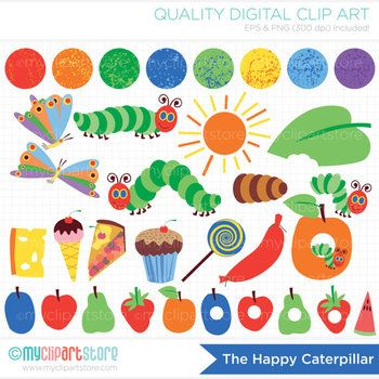 free clipart - the hungry,  hungry caterpillar