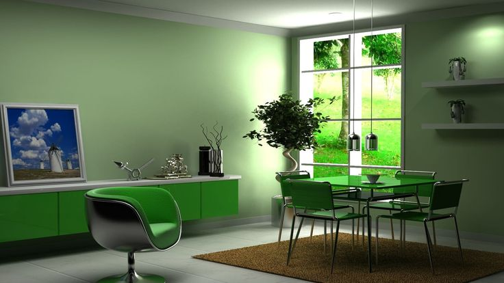 Gorgeous green sideboard