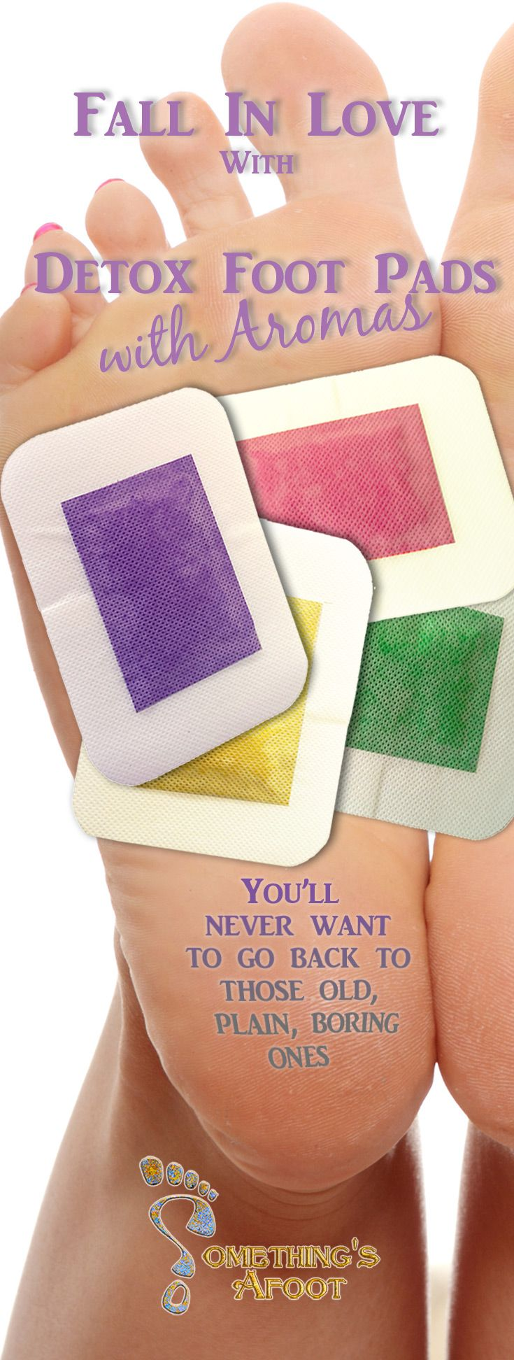 Why do boring when you can do fun?  These detox foot pads have the added benefit of the energies and aromas of lavender, rose, green tea, and chili.  Check them out.  https://yourstore4life.com/collections/healthy-alternatives/Foot-Detox-Patches