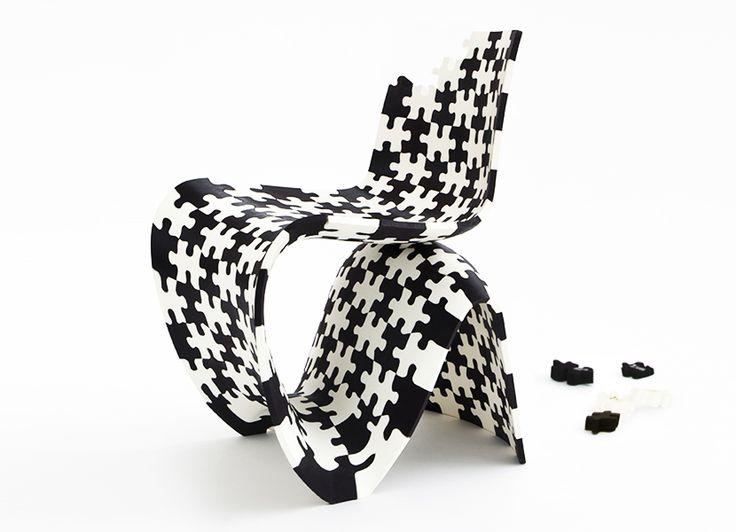 Makerchairs por Joris Laarman, sillas de puzzles de Impresión 3D La fabricación digital es llevada un paso más allá a través de una colección de sillas compuestas por pequeñas piezas que cambian el paradigma productivo