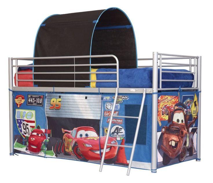 Tienda Campaña Para Cama Litera Infantil  Niños Cars Azul Dosel