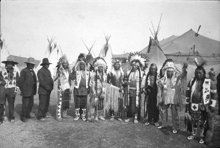 Spokane, Salish, Skitswish, & Kalispel men at the Spokane, Washington Fair