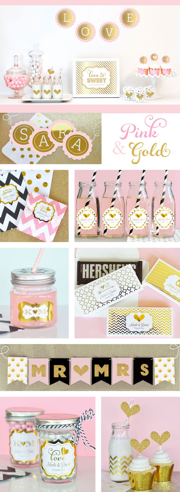 146 best pink and gold wedding and bridal showers images on ...