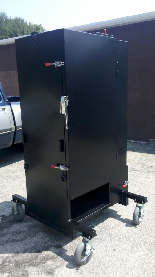 Built In Smoker Outdoor Kitchen: Build A Gravity Feed Smoker Like This