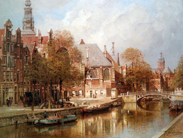 The Oude Kerk and St. Nicolaaskerk, Amsterdam - Johannes Christiaan Karel Klinkenberg