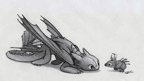 Toothless and Stitch