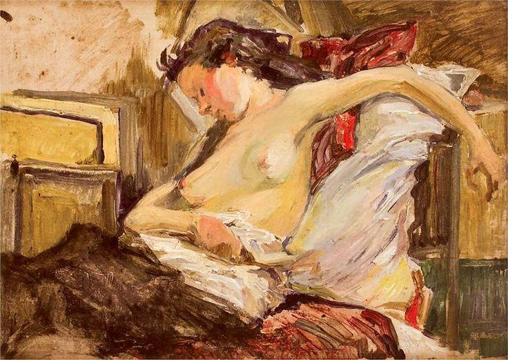 Stanislaw Wyspianski - Parisian nude (Akt paryski) 1894
