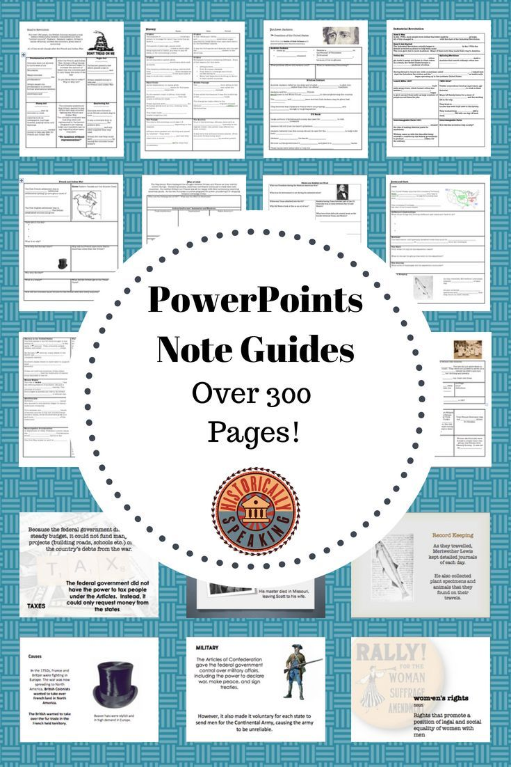 us history powerpoints and note organizers in 2018 middle school