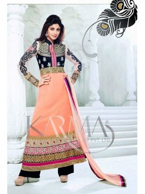Shilpa shetty Black And Orange Embroidered Anaarkali With Full Sleeve Check our New Bollywood collection, http://20offers.com/shilpa_shetty_black_and_orange_embroidered_anaarkali_with_full_sleeve#.U0VAbqiSzxA , Available for shipping worldwide,  Buy Bollywood Suits at lowest price in USA, CANADA, AUSTRALIA, NEW ZEALAND, SINGAPORE, MALYASIA ,UK, NETHERLANDS, FRANCE, JERMANY - Indian Clothing Online!