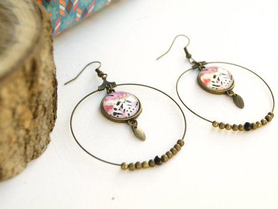 Boucles d'oreilles florales pour femme par Bouclelacreations