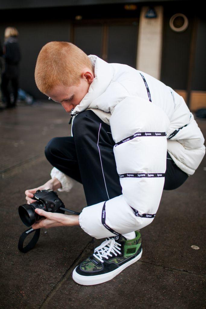 PHOTO BY Kuba Dabrowski (c) Fairchild Fashion Media Street style at London Fashion Week Men's fall 2017.