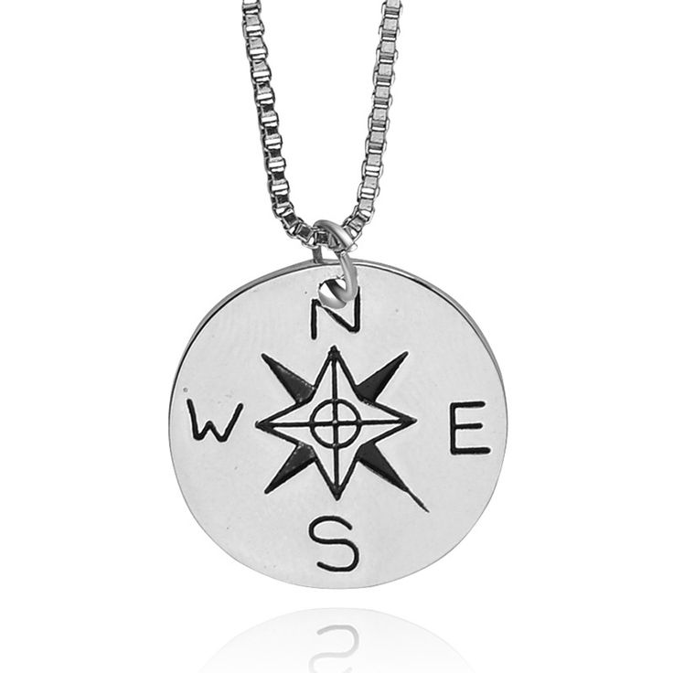 """NOT ALL WHO WANDER ARE LOST"" Find Your True North And South Direction Compasses Necklace Alloy Jewelry Men Women Jewelry #Affiliate"