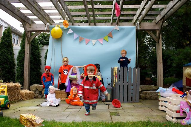 photo booth for three year old dress up birthday party