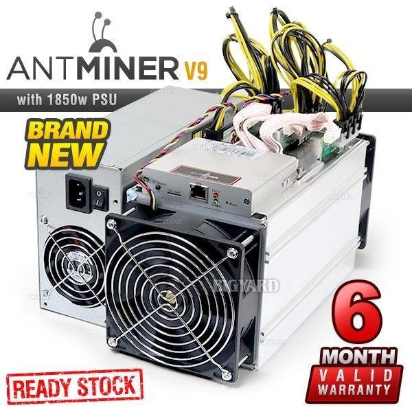 New BITMAIN Antminer V9 4TH/s SHA-256 ASIC Bitcoin Miner +