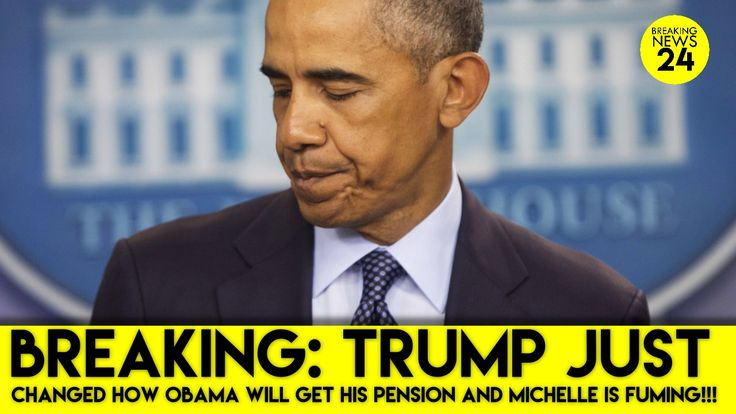 BREAKING: Trump Just Changed How Obama Will Get His Pension And Michelle...