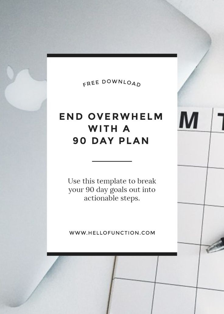 Free 90 day planner - meet your goals! Click the image to learn how to end overwhelm and schedule your goals more efficiently.