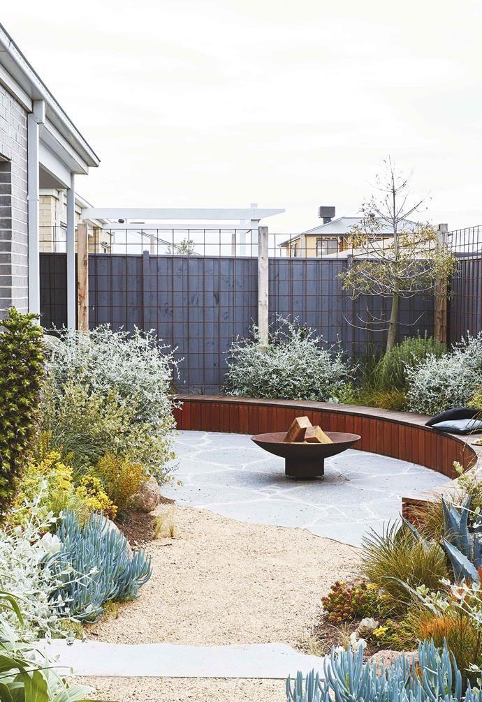 An Easy Care Coastal Garden In Torquay With Colourful Plants In 2020 Coastal Gardens Front Garden Garden Design