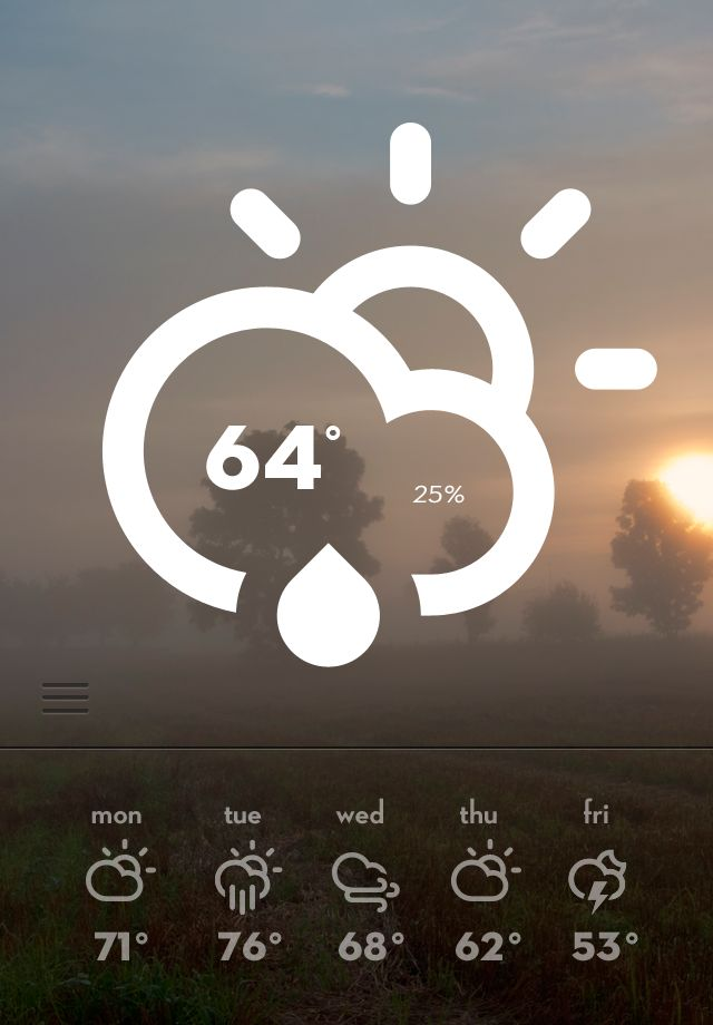 Dribbble - weather_big.png by Bill S Kenney