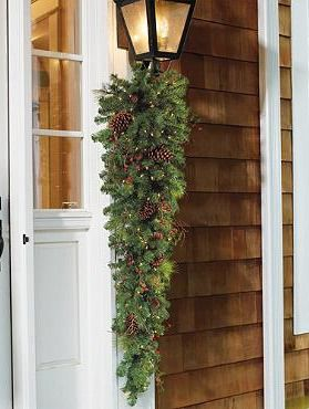 Adorn your outdoor space with the Classic Pre-lit Teardrop Swag, a beautiful piece brimming with greenery and twinkling lights to elegantly add holiday cheer to your home.Add Holiday, Christmas Time, Christmas 365, Teardrop Swag, Christmas Decor, Outdoor Holiday, Holiday Decor, Beautiful Wreaths, Holidays Christmas