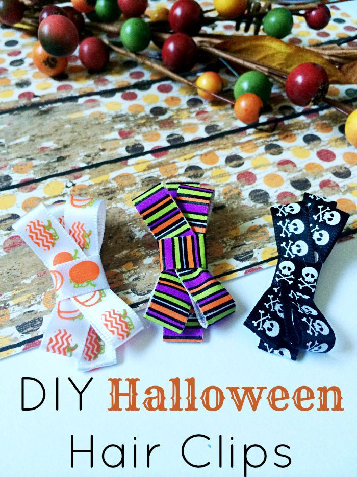 diy halloween hair clips - Cheap Halloween Crafts