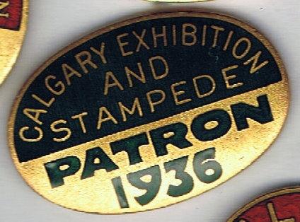 1936 Calgary Stampede Patron pin