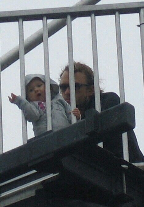 Heath with his daughter Matilda… crying right now!