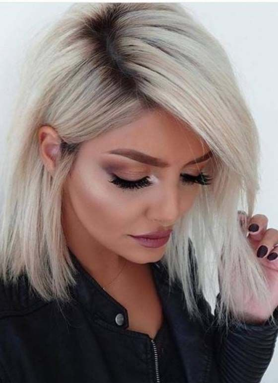 32 Cool Shoulder Length Hairstyles for Blonde Hair 2018