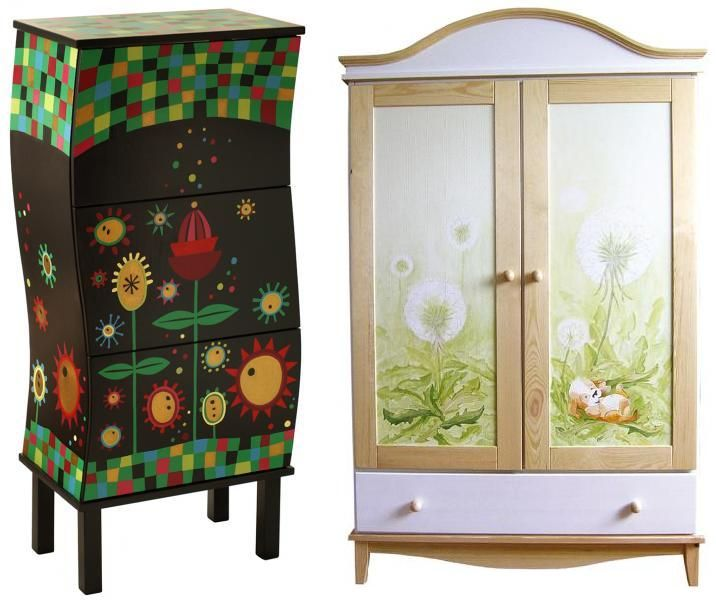 Hand-painted furniture / ręcznie malowane meble