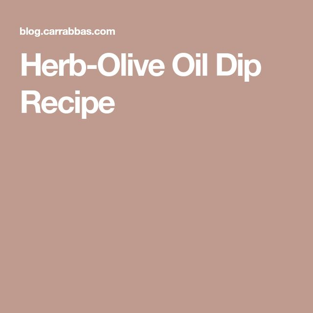 Herb-Olive Oil Dip Recipe