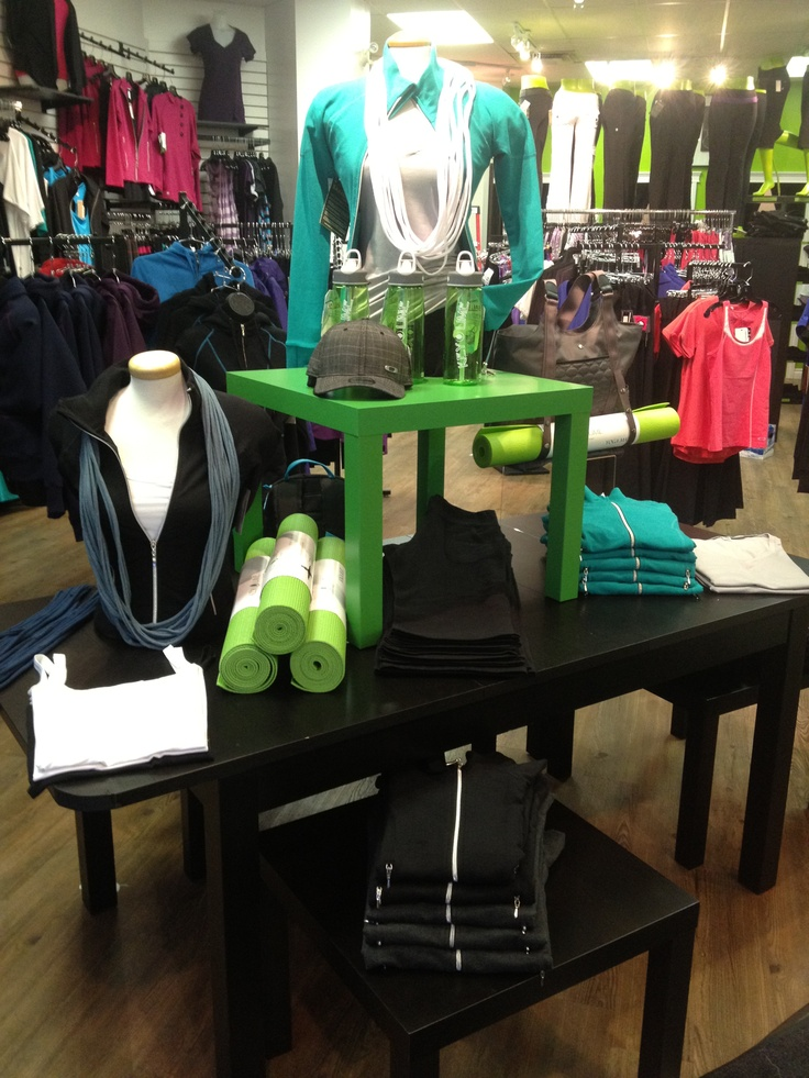 Visual Merchandising for KEYLIME by Flourish Design & Merchandising. Display, retail design, shop. Put a small table on top of my rectangle ones...