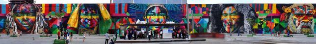 Gold Medal Street Art: World Record Mural in Rio Stretches 600 Feet | Urbanist
