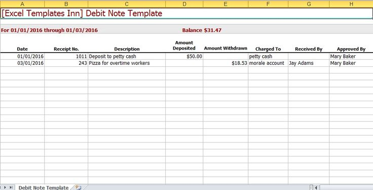Debit Note Excel Template Excel Templates Pinterest - accounting ledgers templates